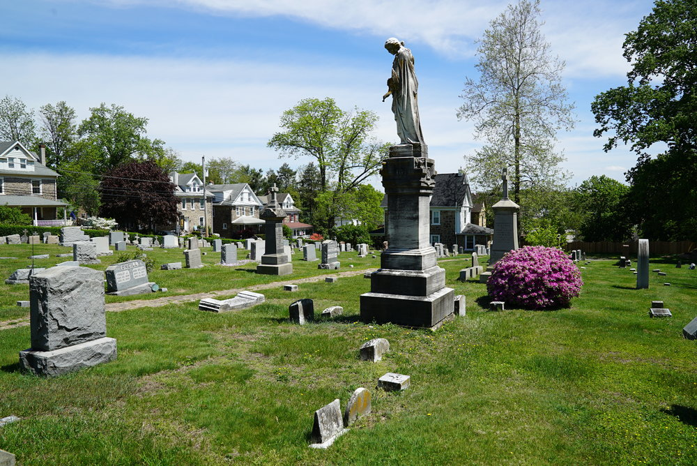 St. Anthony Of Padua Church Cemetery. Ambler, Pennsylvania.