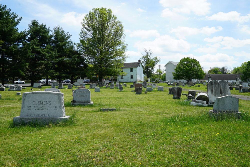 Montgomery Baptist Church Cemetery. Colmar, Pennsylvania.