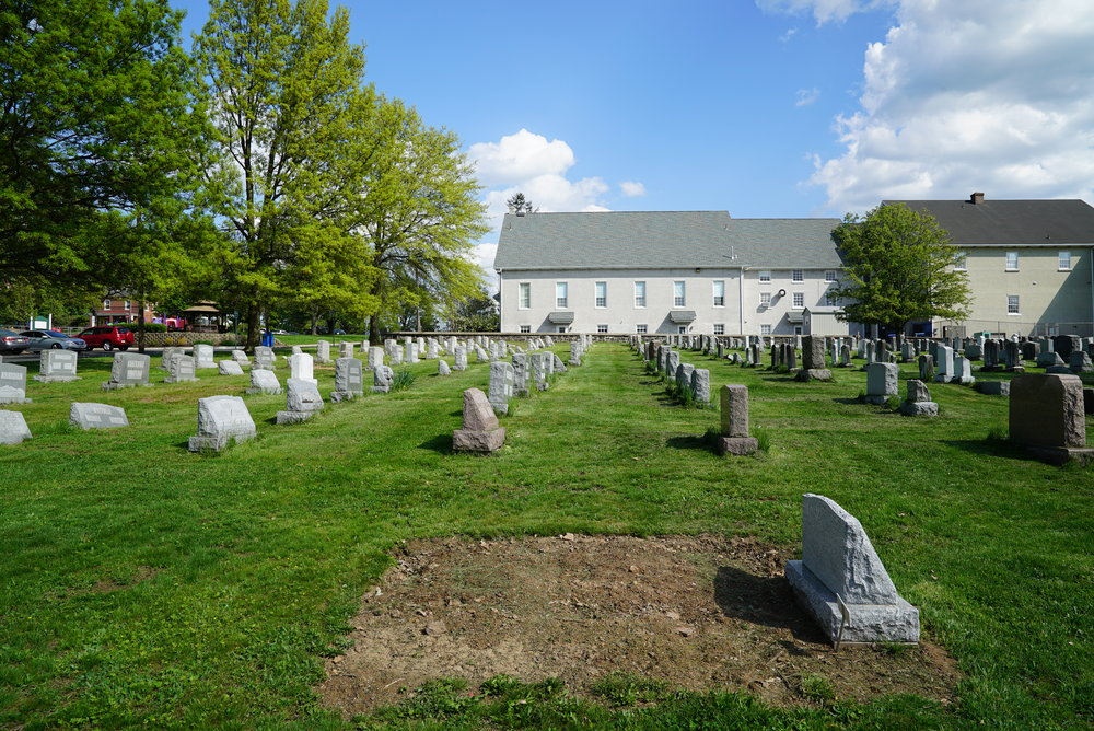 A recent burial. Souderton Mennonite Church Cemetery - Montgomery County, Pennsylvania.
