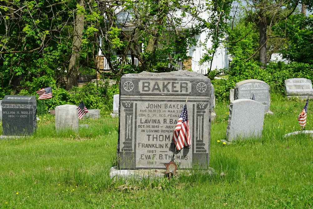 Tombstone at Cold Point Baptist Church Cemetery - Plymouth Meeting, Pennsylvania.