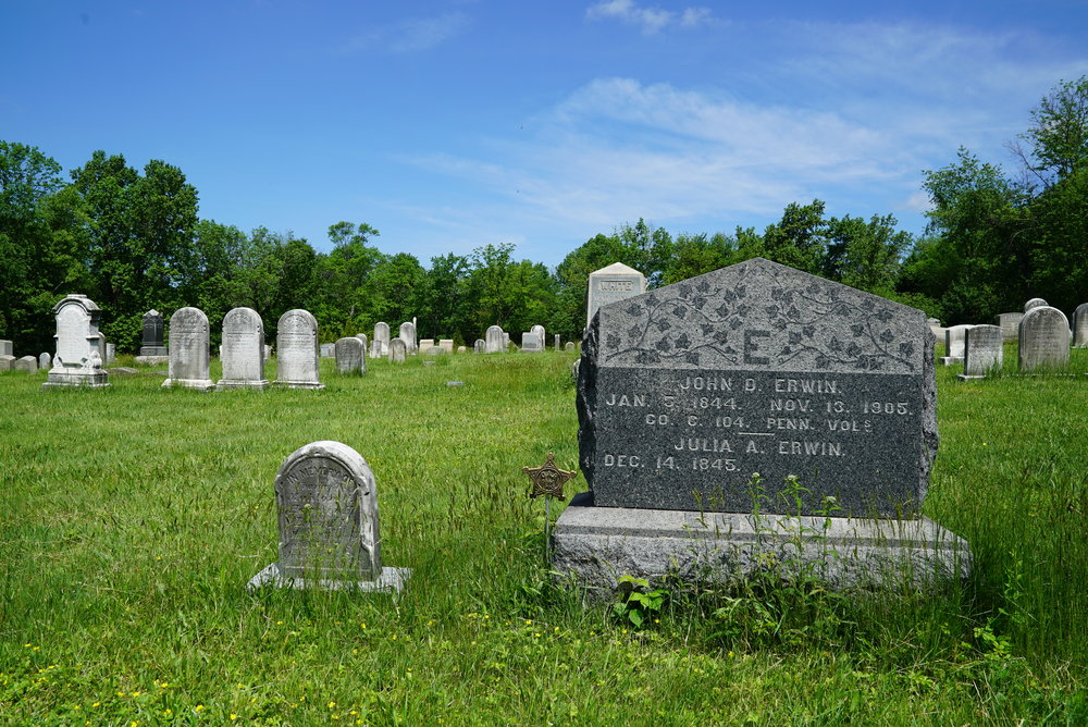 Tombstones at North & Southampton Reformed Church Cemetery - Churchville, Pennsylvania.