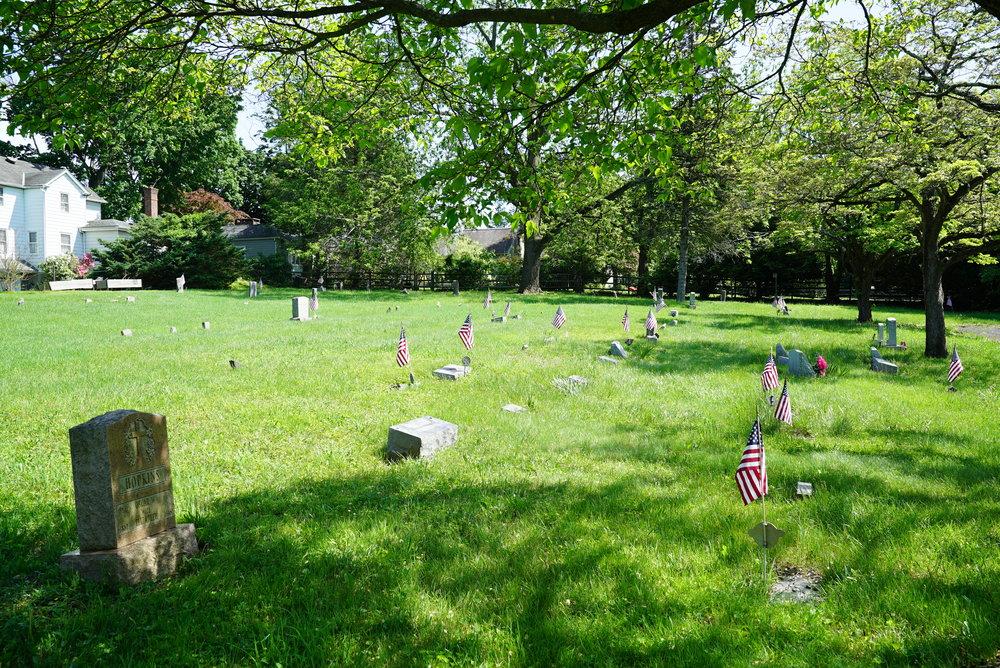 Sign at Lighthouse Hill Cemetery - Newtown, Bucks County, Pennsylvania.