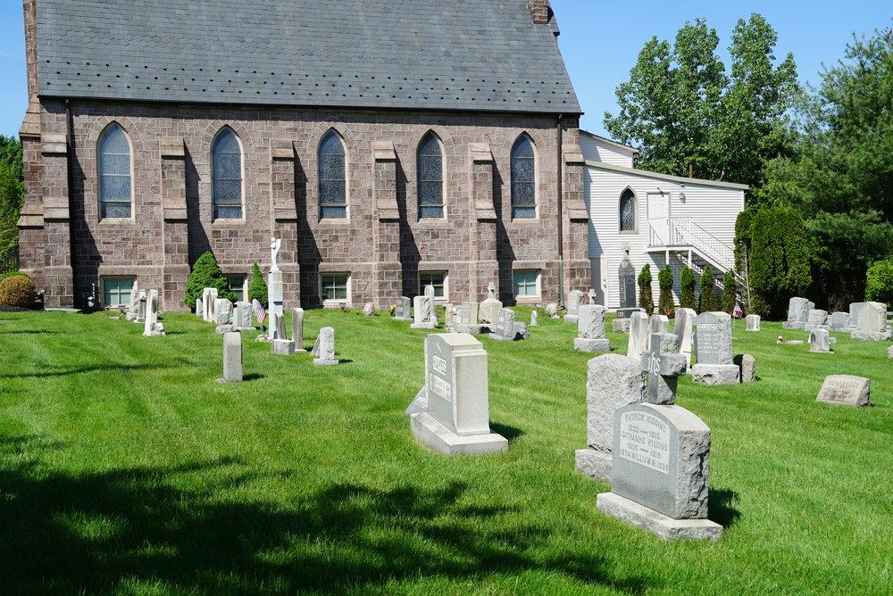 Olde Saint Andrew's Catholic Church Cemetery - Newtown, Pennsylvania.