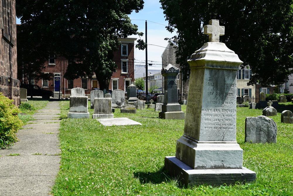 St. David's Episcopal Church Cemetery. Philadelphia, Pennsylvania.
