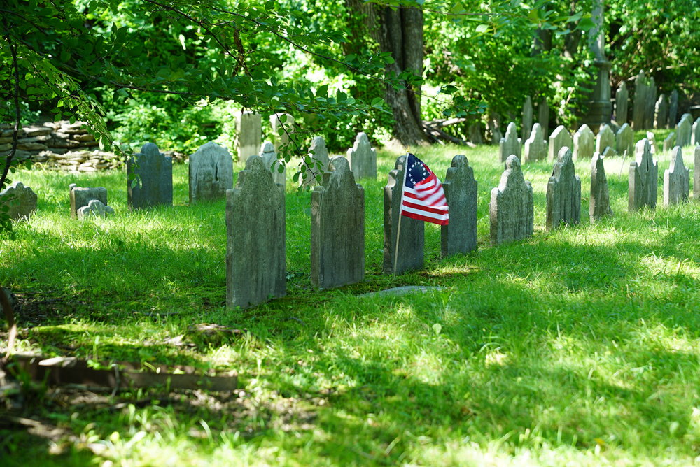 The Upper Burial Ground. Germantown section of Philadelphia.