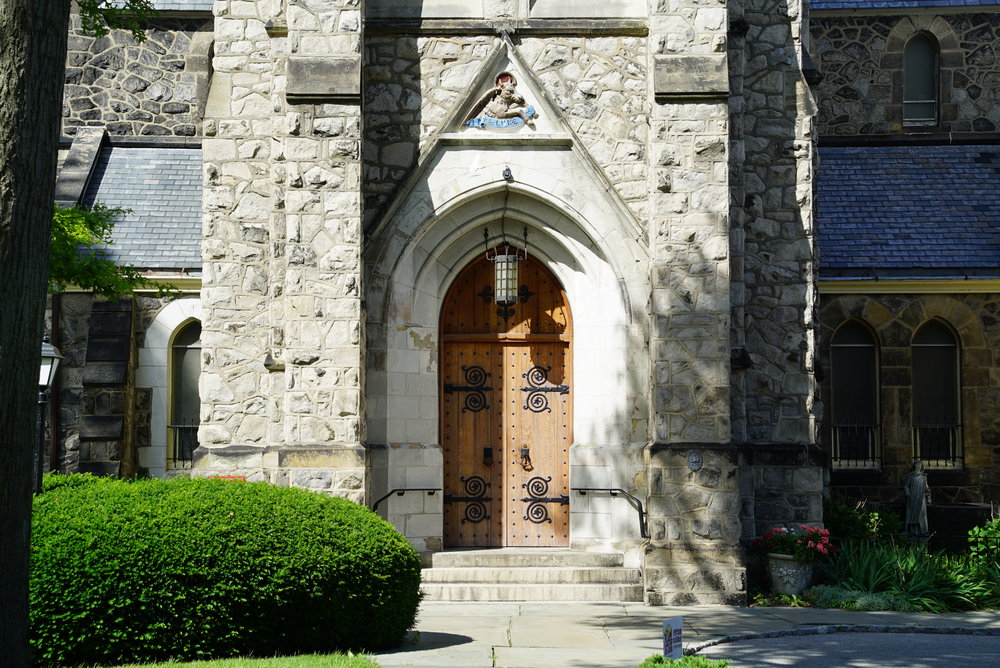 Entrance to the church: St. Luke's Episcopal Church Cemetery - Germantown section of Philadelphia.