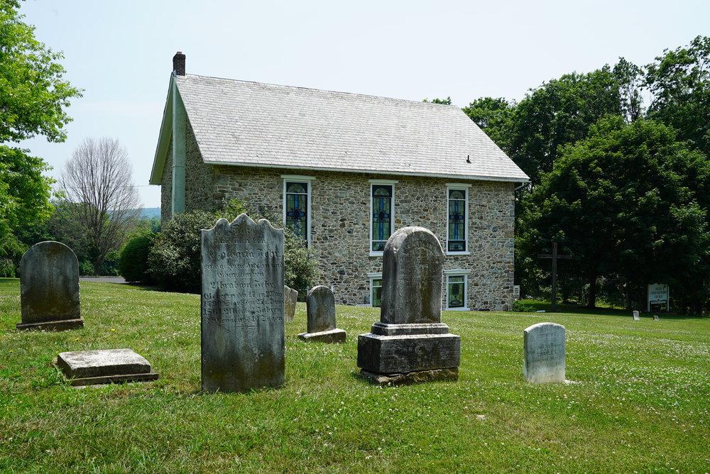 Salem United Methodist Church Cemetery, also known as Old Springtown Graveyard. Bucks County, Pennsylvania.