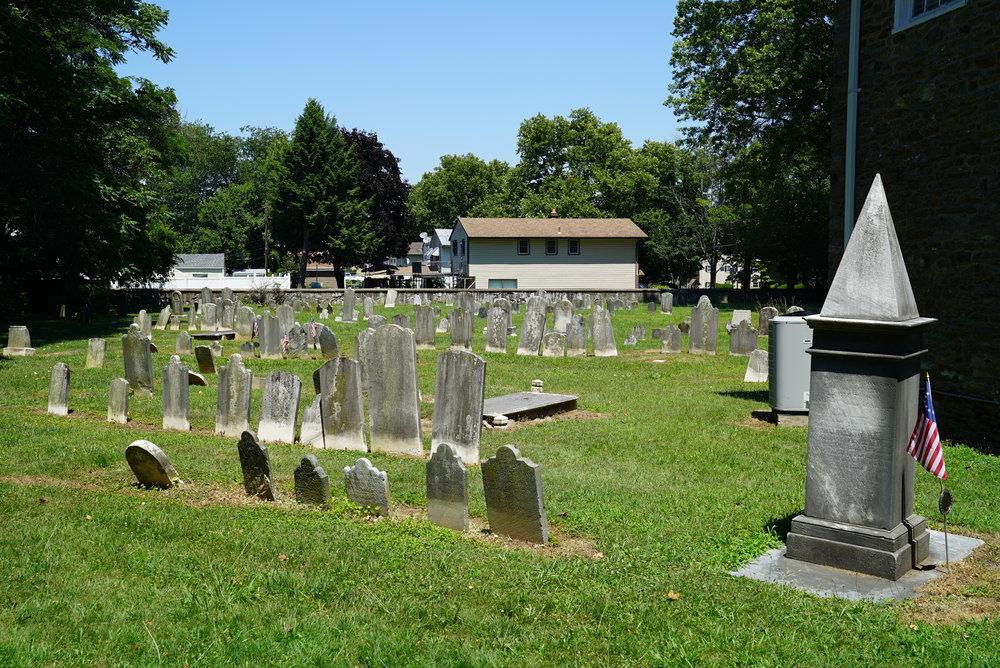 Behind the old church. Pennepack Baptist Church Cemetery. Philadelphia, Pennsylvania.