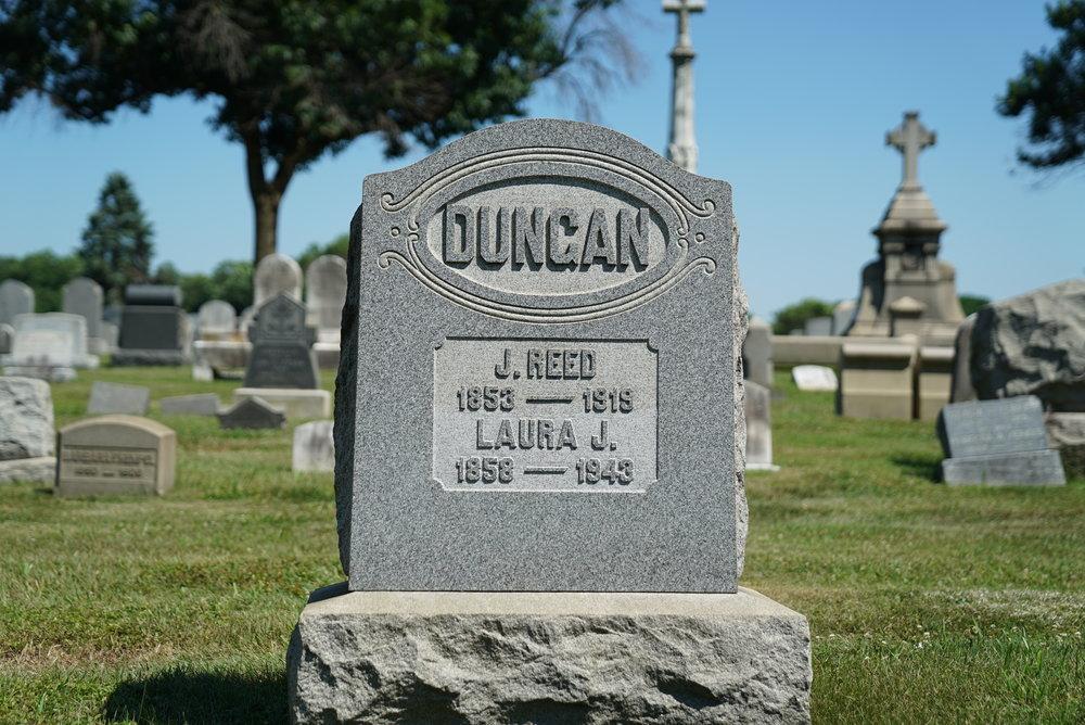 Gravestone at William Penn Cemetery. Somerton section of Philadelphia.