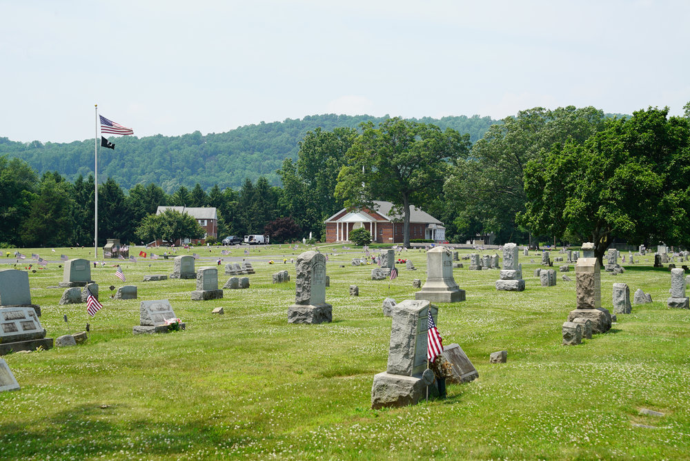 St. Peter's Evangelical Lutheran Church Cemetery. Riegelsville, Pennsylvania.