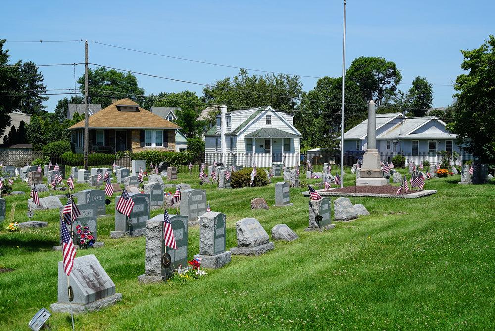 Morrisville Cemetery. Morriville, Pennsylvania.