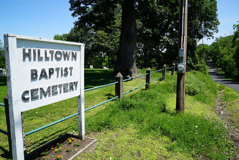 View from the street. Hilltown Baptist Cemetery. Chalfont, Pennsylvania.