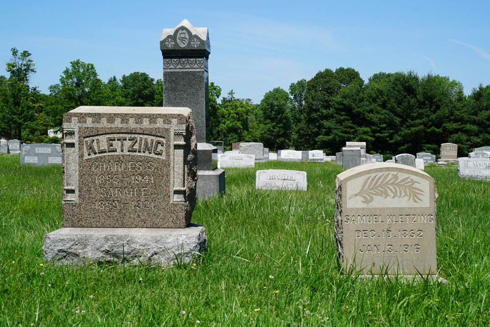 Overdue for mowing: St. Peter's Cemetery in Hilltown, Bucks County, Pennsylvania.