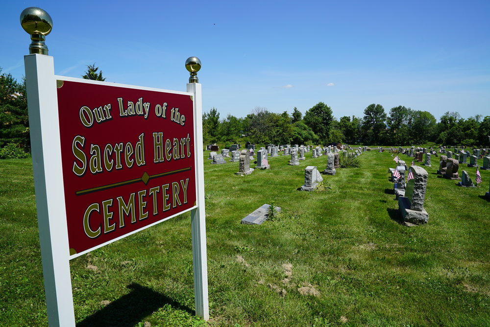 Our Lady Of The Sacred Heart Cemetery. Hilltown, Pennsylvania.