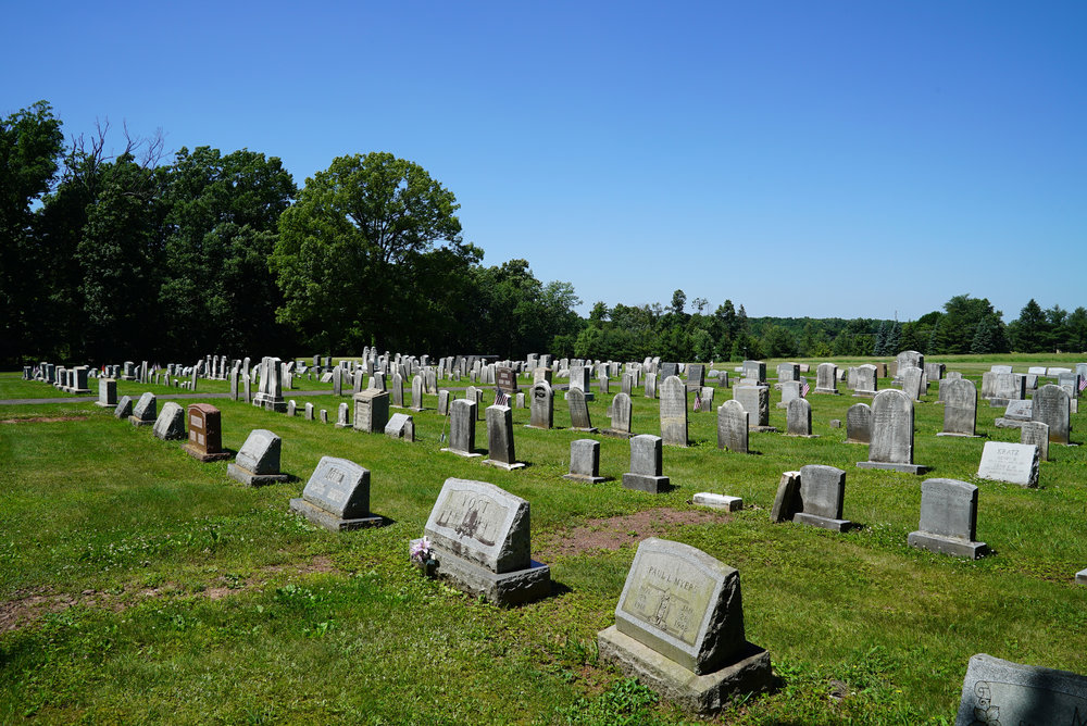 Deep Run Mennonite Church West Cemetery. Perkasie area of Bucks County, Pennsylvania.