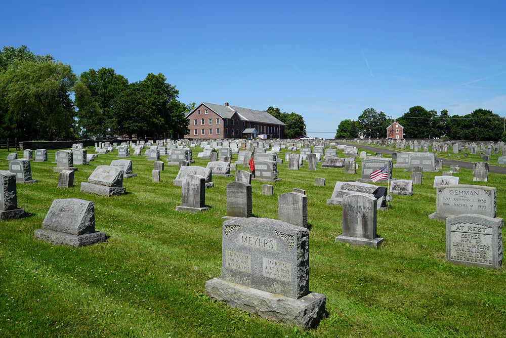 Deep Run Mennonite Church East Cemetery. Perkasie area of Bucks County, Pennsylvania.