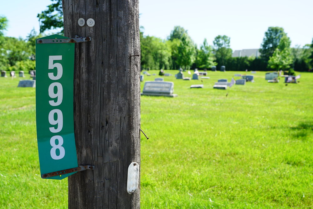 The only signage at Plumsteadville Cemetery. Plumsteadville, Pennsylvania.
