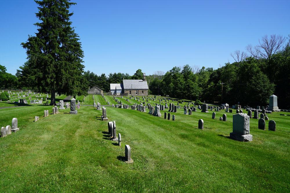 Carversville Cemetery in Bucks County, Pennsylvania.