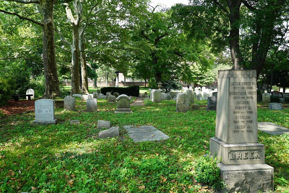 Old Swedes Cemetery, Philadelphia, Pennsylvania.