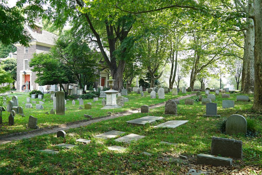 Old Swedes Cemetery. Philadelphia, Pennsylvania.