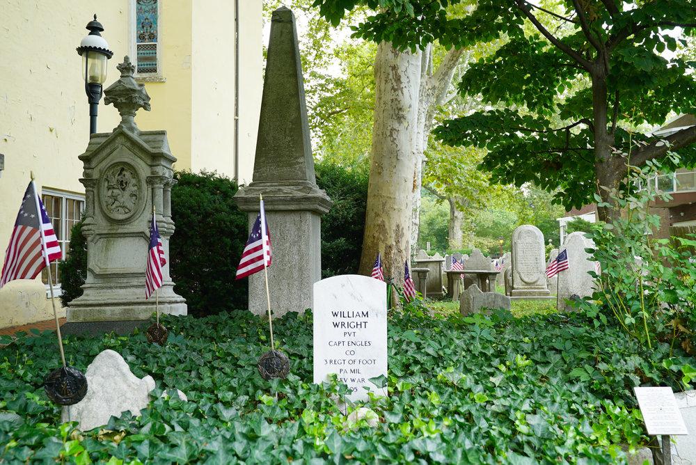 Old Pine Street Presbyterian Church Cemetery. Philadelphia, Pennsylvania.