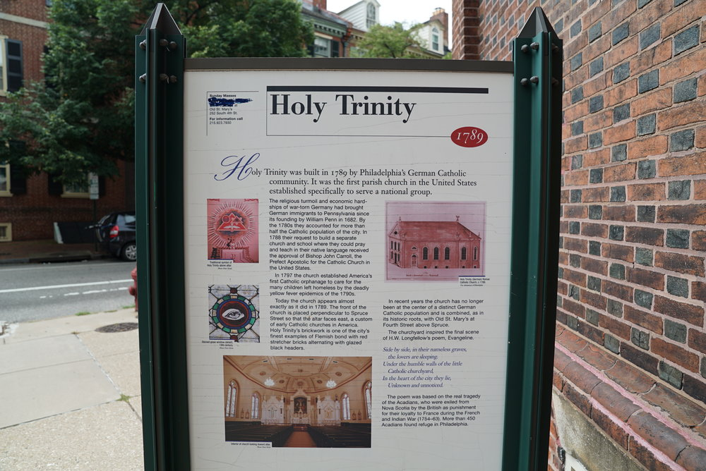 Sign at Holy Trinity Church Cemetery - Philadelphia, Pennsylvania.