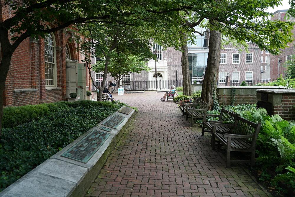 Christ Episcopal Church Yard - Philadelphia, Pennsylvania.