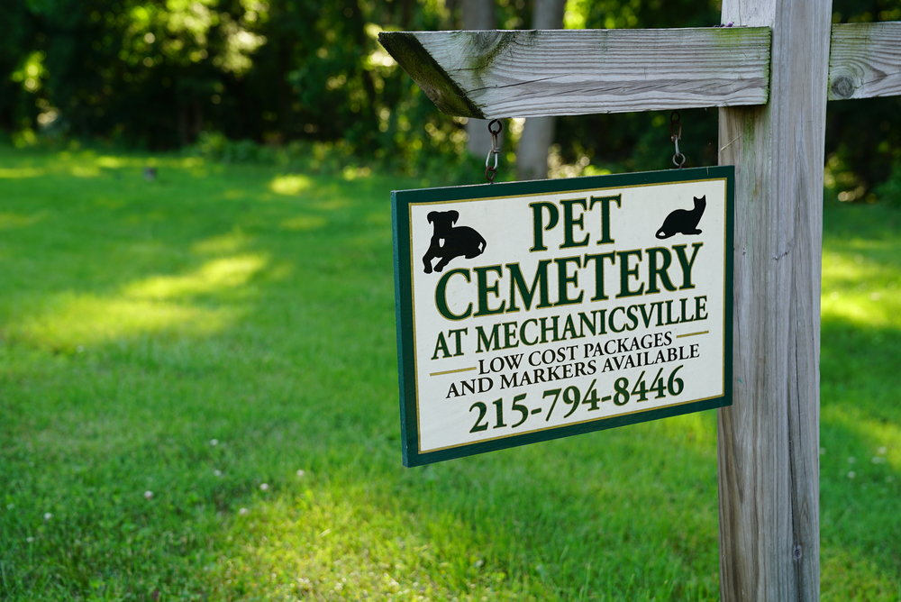 There is a pet cemetery at Bucks County's Mechanicsville Cemetery. Buckingham Township.