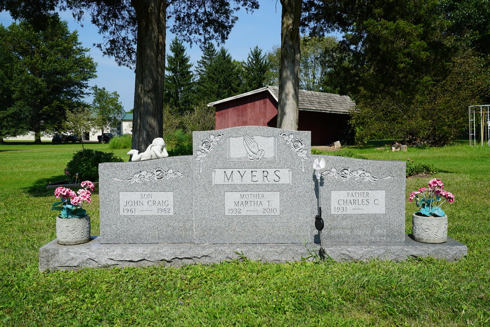 Largest monument at Silverdale Church Cemetery - Silverdale, Pennsylvania