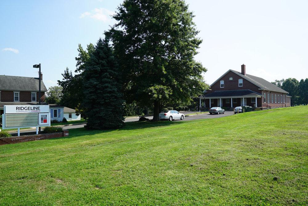 View from the street:Rockhill Mennonite Church Cemetery - Telford, Pennsylvania