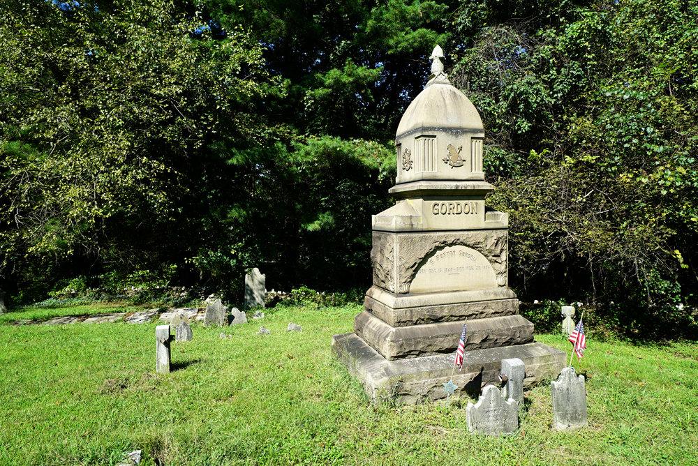 The largest monument at Doe Run Presbyterian Church Cemetery. East Fallowfield, Pennsylvania.
