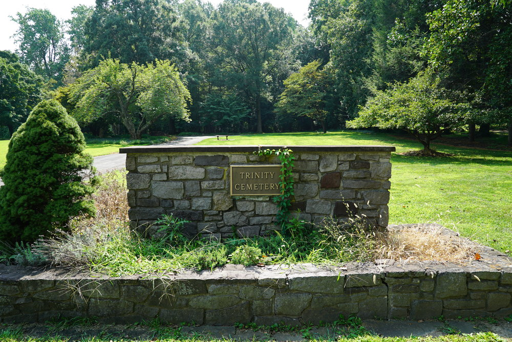 At the entrance to Trinity Cemetery - Solebury, Pennsylvania