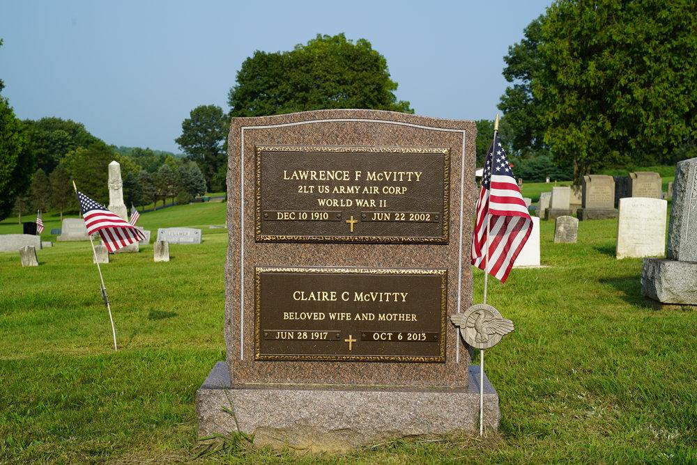 Headstone at Springtown Cemetery. Springfield Township, Bucks County