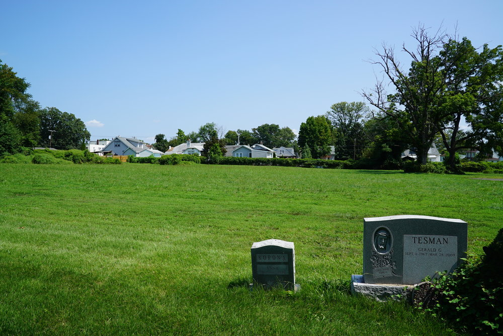 Open space at St. Valentine's Cemetery - Andalusia, Pennsylvania