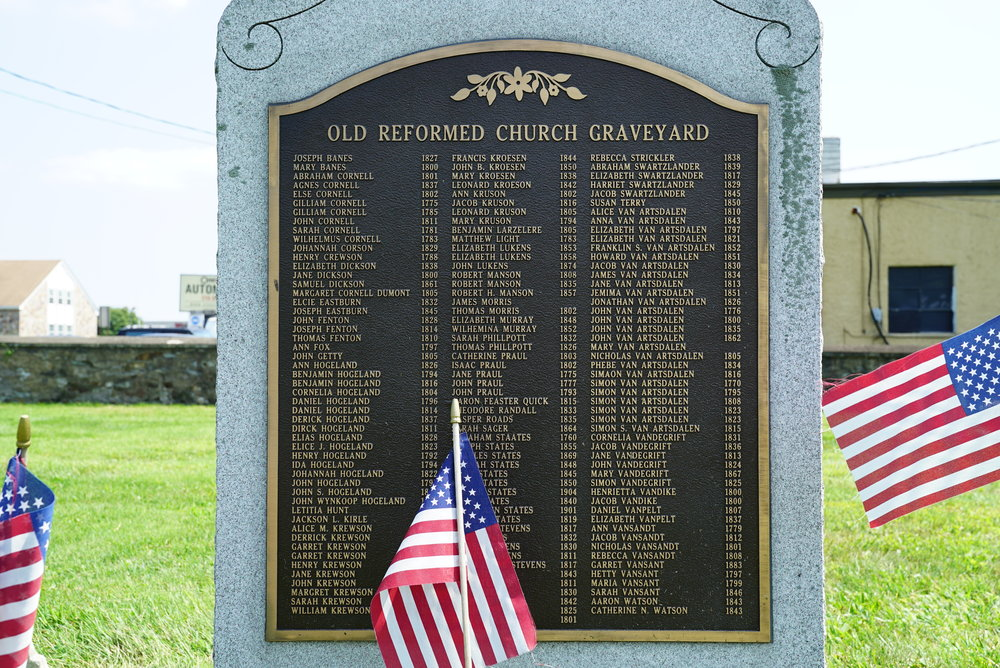 On the site of the Reformed Church Graveyard - Feasterville, Pennsylvania