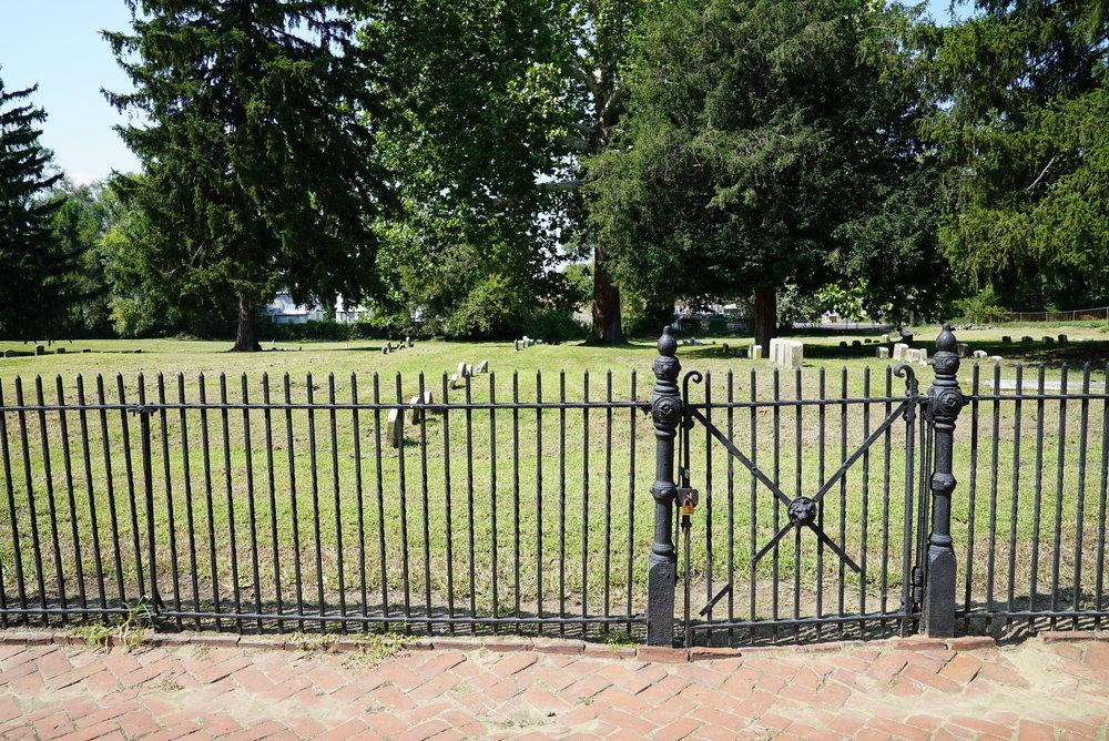 Bristol Friends Cemetery - Bristol, Pennsylvania. The gate is locked.
