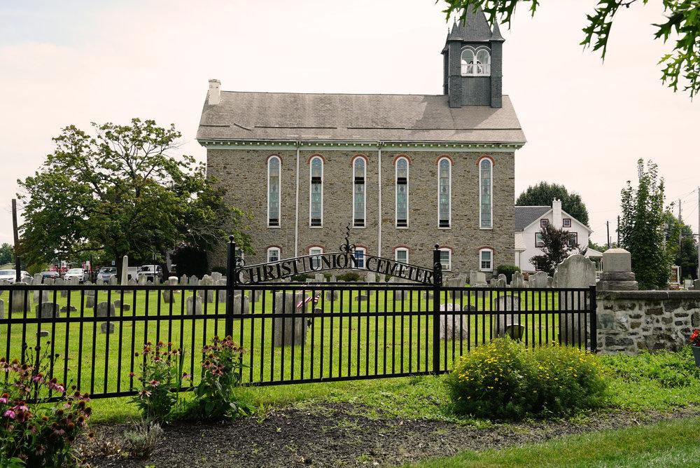 Christ Union Cemetery - old section - Trumbauersville, Pennsylvania.