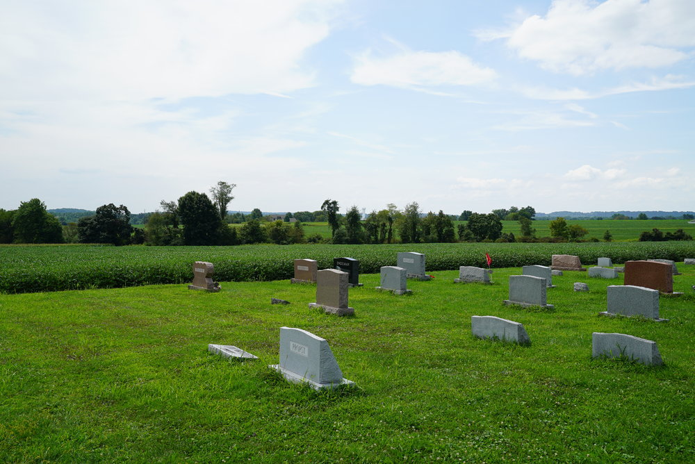 It's rural out here. West Swamp Mennonite Cemetery. Quakertown area. Bucks County.