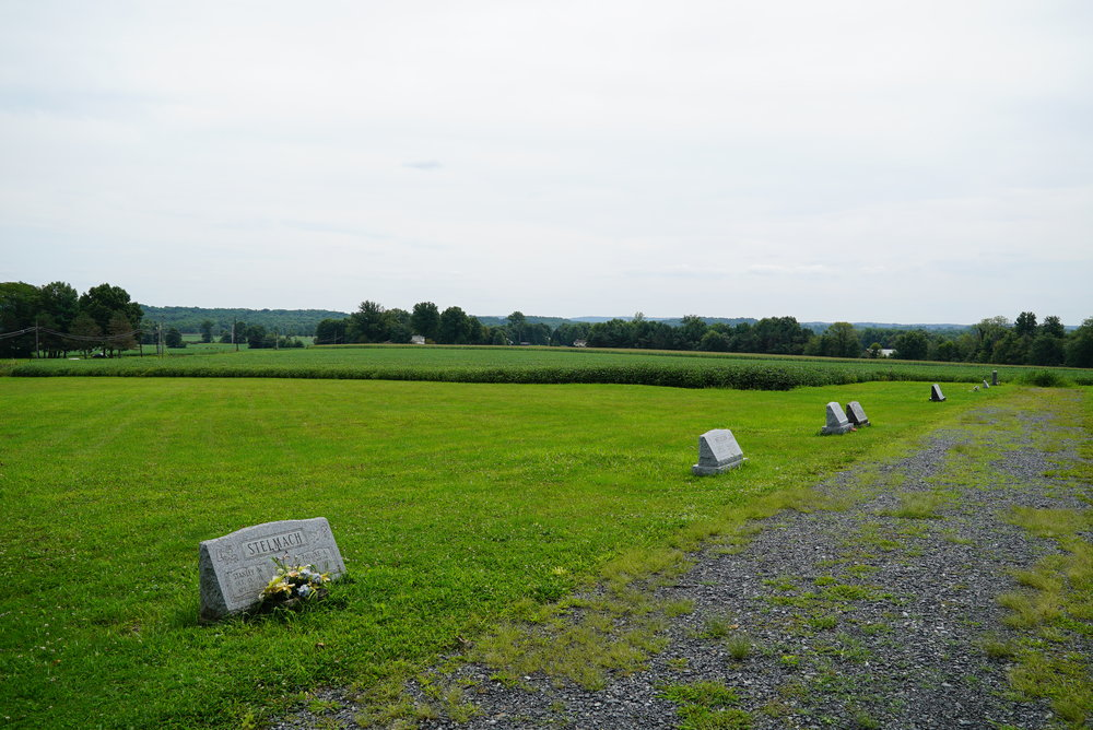 West Swamp Mennonite Cemetery. Quakertown area. Bucks County.