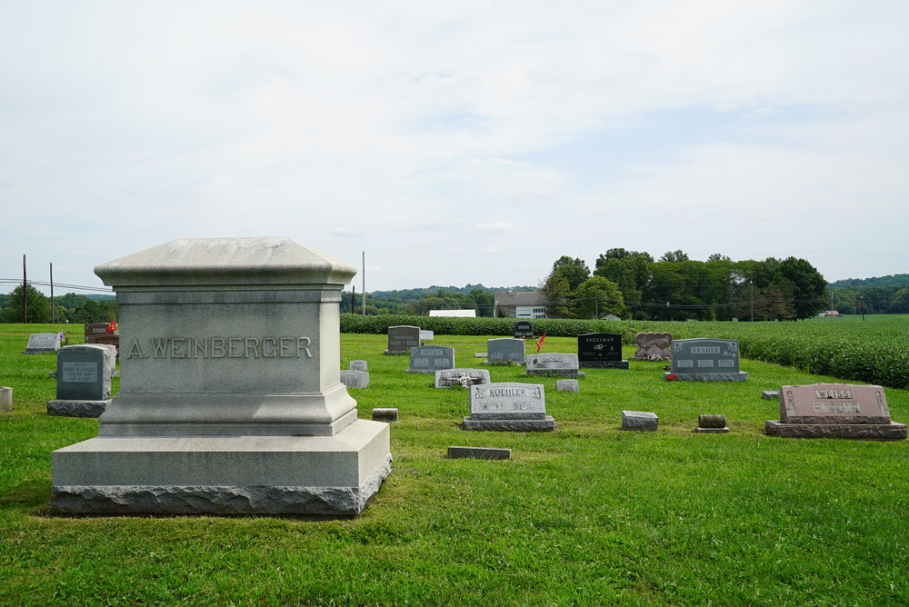 West Swamp Mennonite Cemetery - Quakertown area. Bucks County.