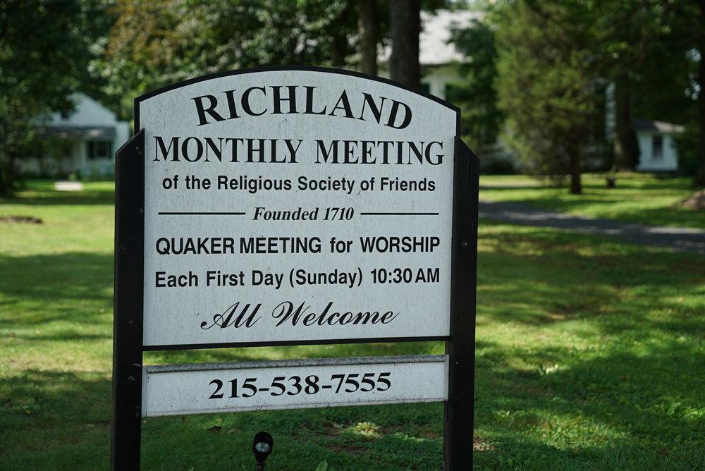 Richland Friends Burial Grounds - Quakertown, Pennsylvania.