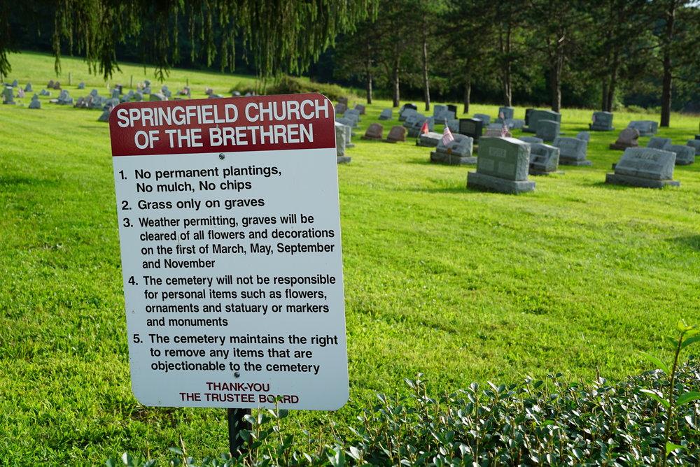 Springfield Church of the Brethren Cemetery - Coopersburg, Pennsylvania.