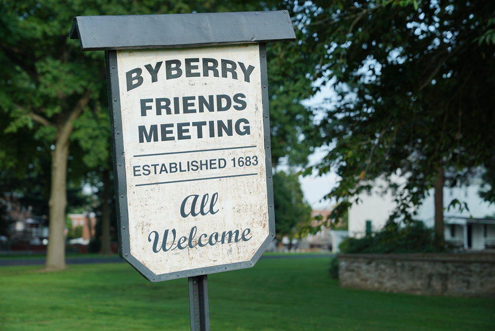 Signage at Byberry Friends Meeting Cemetery - Philadelphia, Pennsylvania.