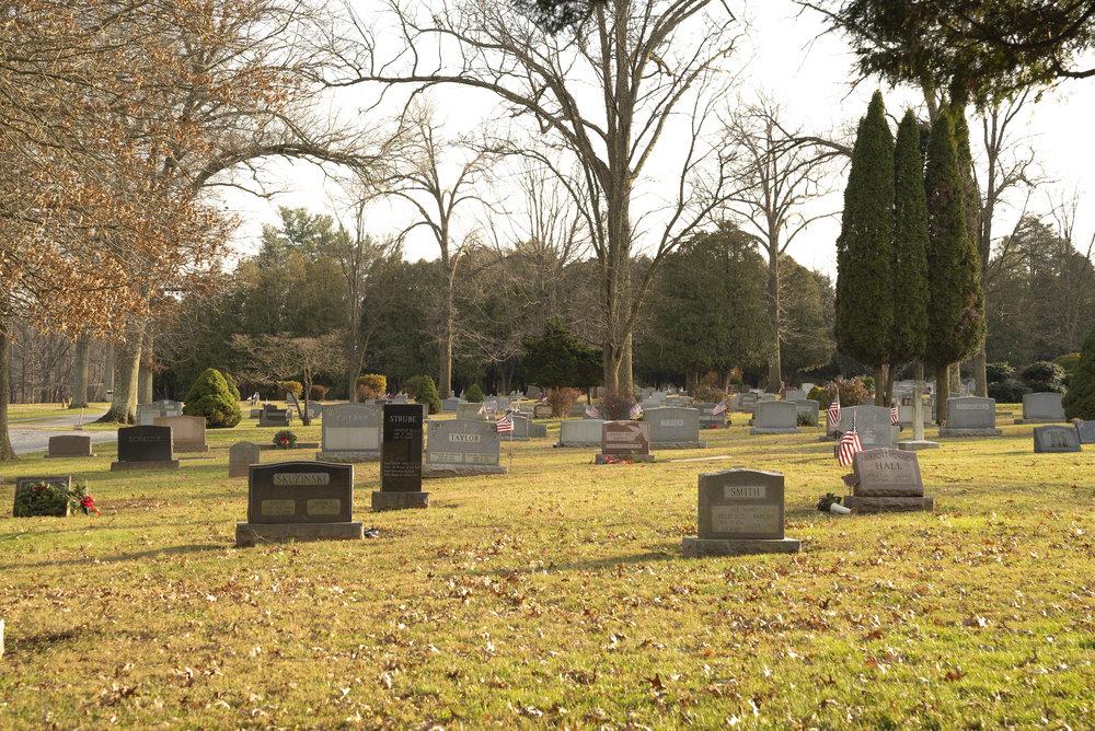 Birmingham Lafayette Cemetery - West Chester, Pennsylvania. December 6, 2018.