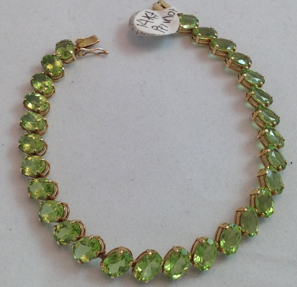 14kt Yellow Gold Peridot Bracelet