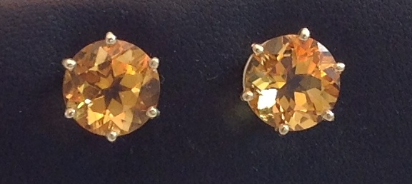 14kt yellow gold Citrine Earrings