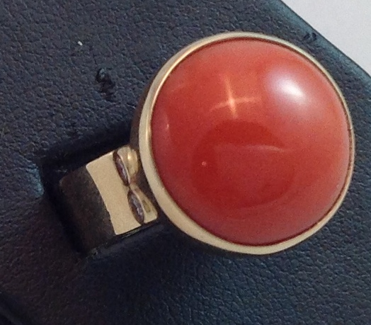14kt Red Coral Ring