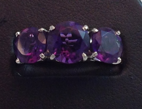 Platinum & Amethyst Ring