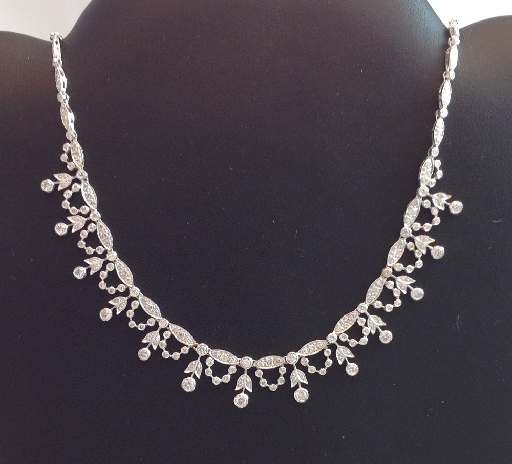 14kt White Gold Diamond Neckpiece