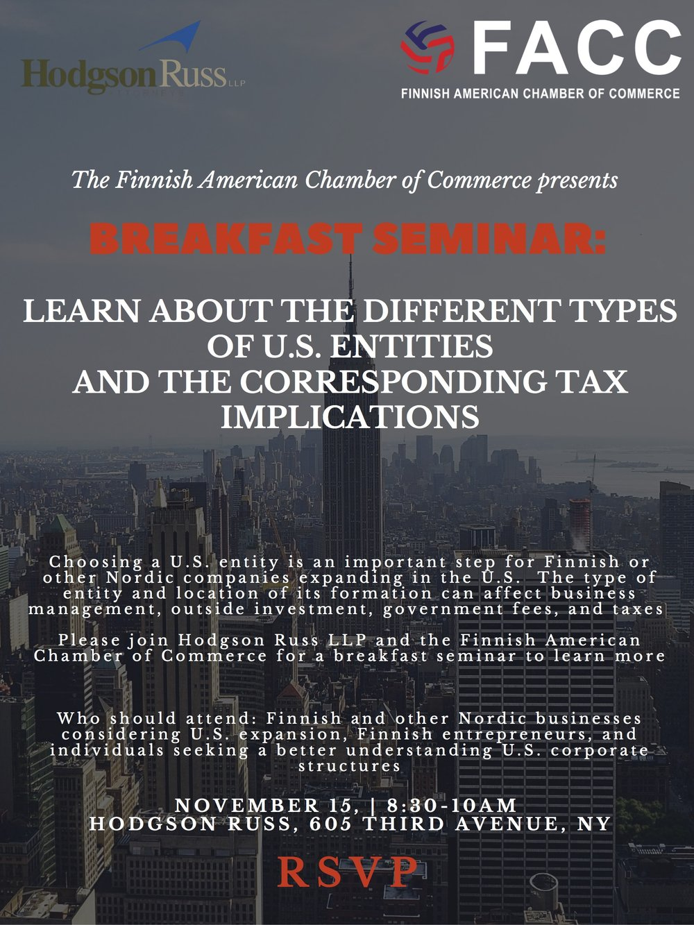 Breakfast Seminar, US entities and corresponding tax implications.jpg